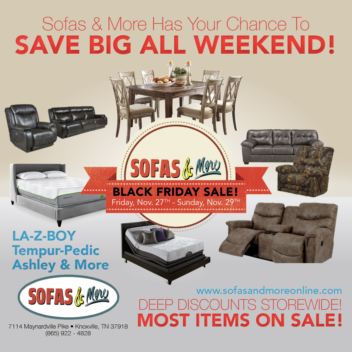 sofas & more's black friday sale
