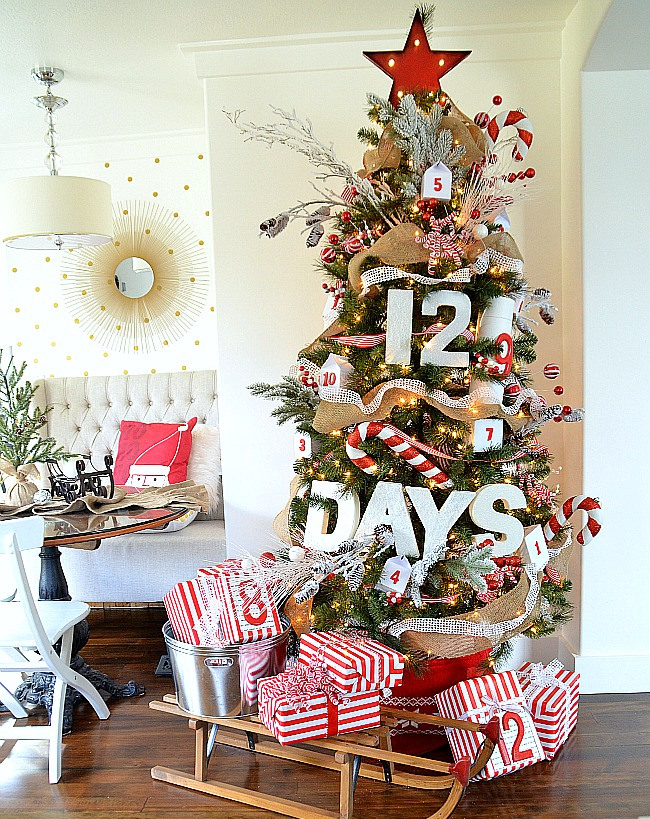 Christmas Tree Decorating Ideas - 12 Days of Christmas