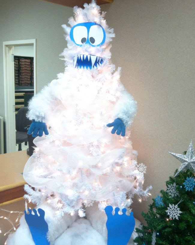 christmas tree decorating ideas abominable snowman tree