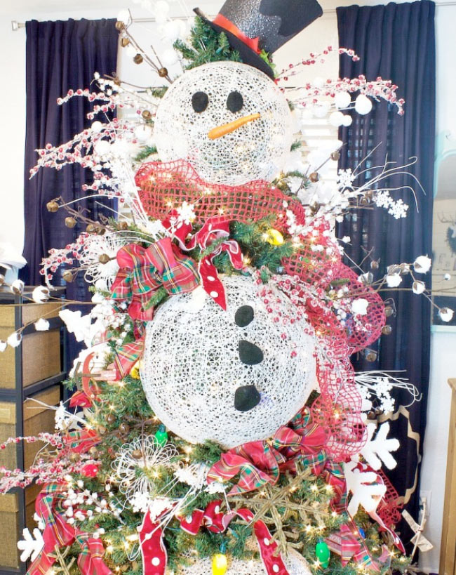 Christmas tree decorating ideas sofas more knoxville tn for Abominable snowman holiday decoration