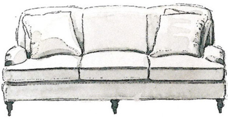 English Three-Seater Sofas