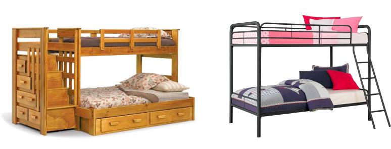 bunk bed materials